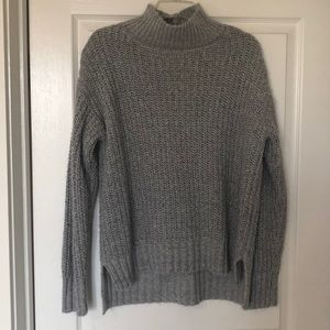 Gray and silver sparkly turtle neck